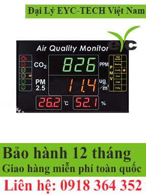 eYc DMB05 4-in-1 Multifunction Indoor Air Quality Large LED Display / Monitor / Indicator EYC TECH Việt Nam STC Việt Nam